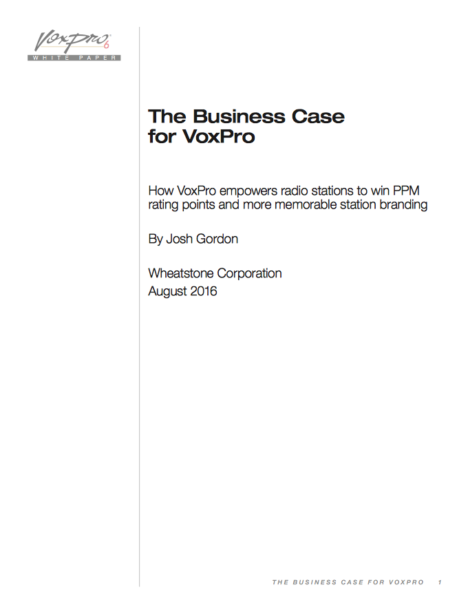 The Business Case for VoxPro v3