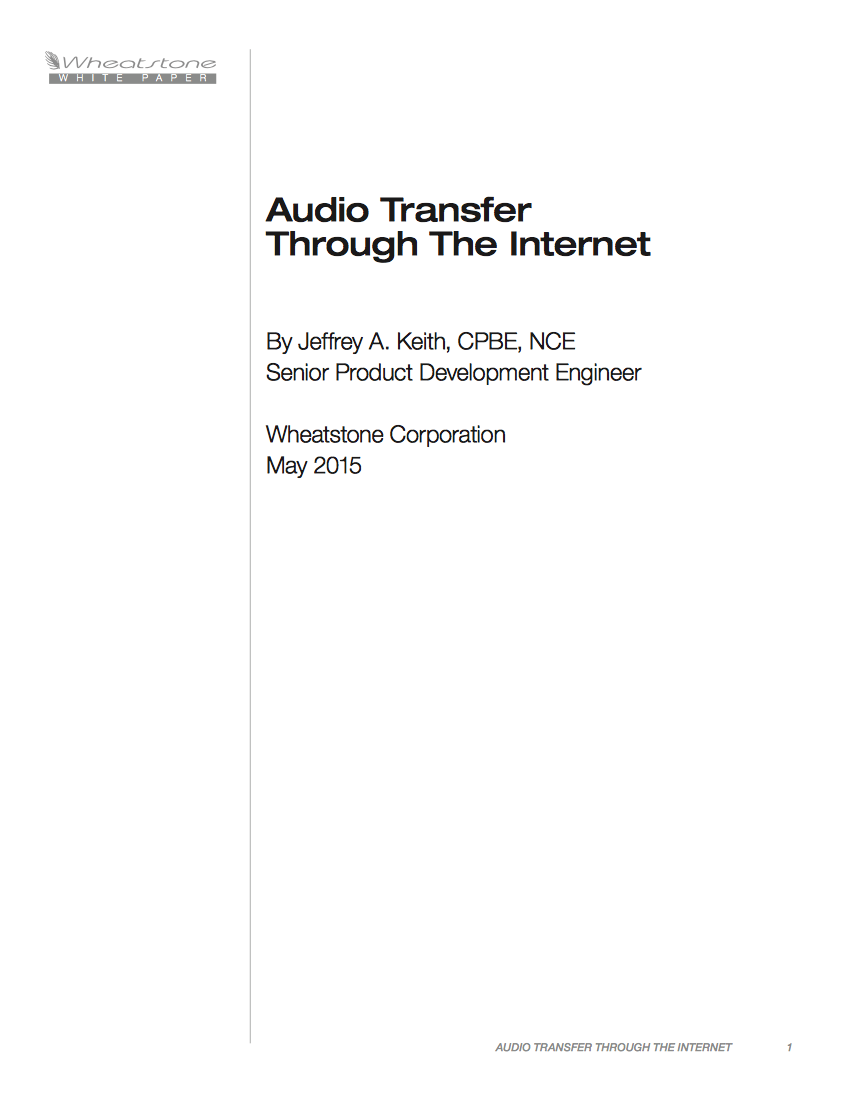 Wheatstone Podcast Stream WhitePaper v2